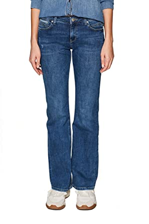 ESPRIT Damen Bootcut Jeans: : Bekleidung