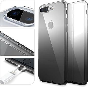 Urcover Funda Compatible con Apple iPhone 7/8 Plus Arcoiris Smartphone Móvil Cubierta Flexible Anticaída Carcasa Bumper Negro Degradado: Amazon.es: Electrónica