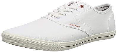 cf922ab35d008f JACK   JONES Herren Jjspider Canvas Sneaker Bright White Low-Top ...