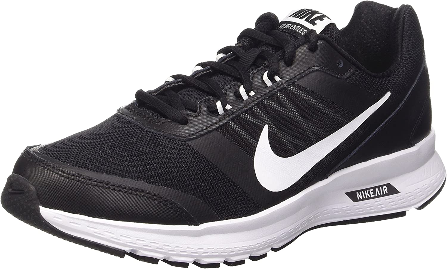 Nike Air Relentless 5 Men s Running Shoes 807092-001 Black White-Dark Grey-Volt 8 M US