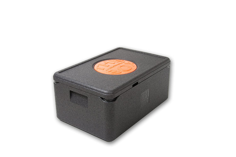 THE BOX 2er Paket Thermobox GN 1/1 groß 79881; schwarz, Außenmaß 60 x 40 x 27,5 cm, Innenmaß 54 x 34 x 21 cm, Nutzhöhe 21 cm, 38 l.