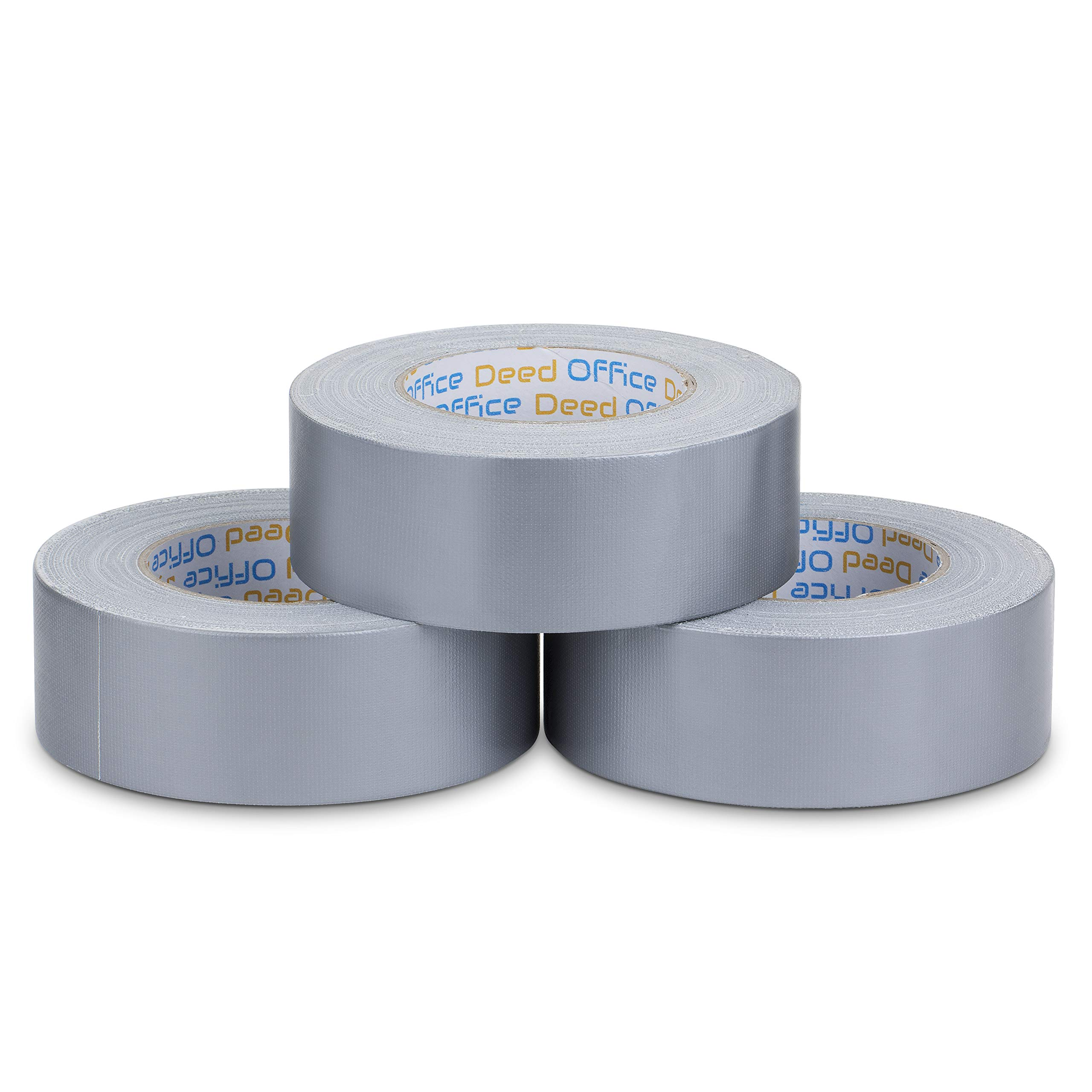 Office Deed Professional Grade Duct Tape, 3-Pack, Silver Color, 11mil Thick (1.88 inch x 40 Yards), 48mm x 36m - Designed for Crafts, Home Improvement Projects, Repairs, Maintenance, Total 120 Yards