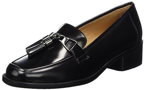Marc OPolo Mid Heel Loafer 70714142202111, Mocasines para Mujer, Schwarz (Black