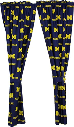 College Covers Michigan Wolverines Curtain Panels, 42 x 84