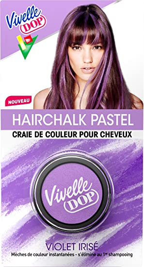 vivelle dop hairchalk pastel craie de couleur pour cheveux coloration phmre violet iris 3 - Coloration Craie Cheveux