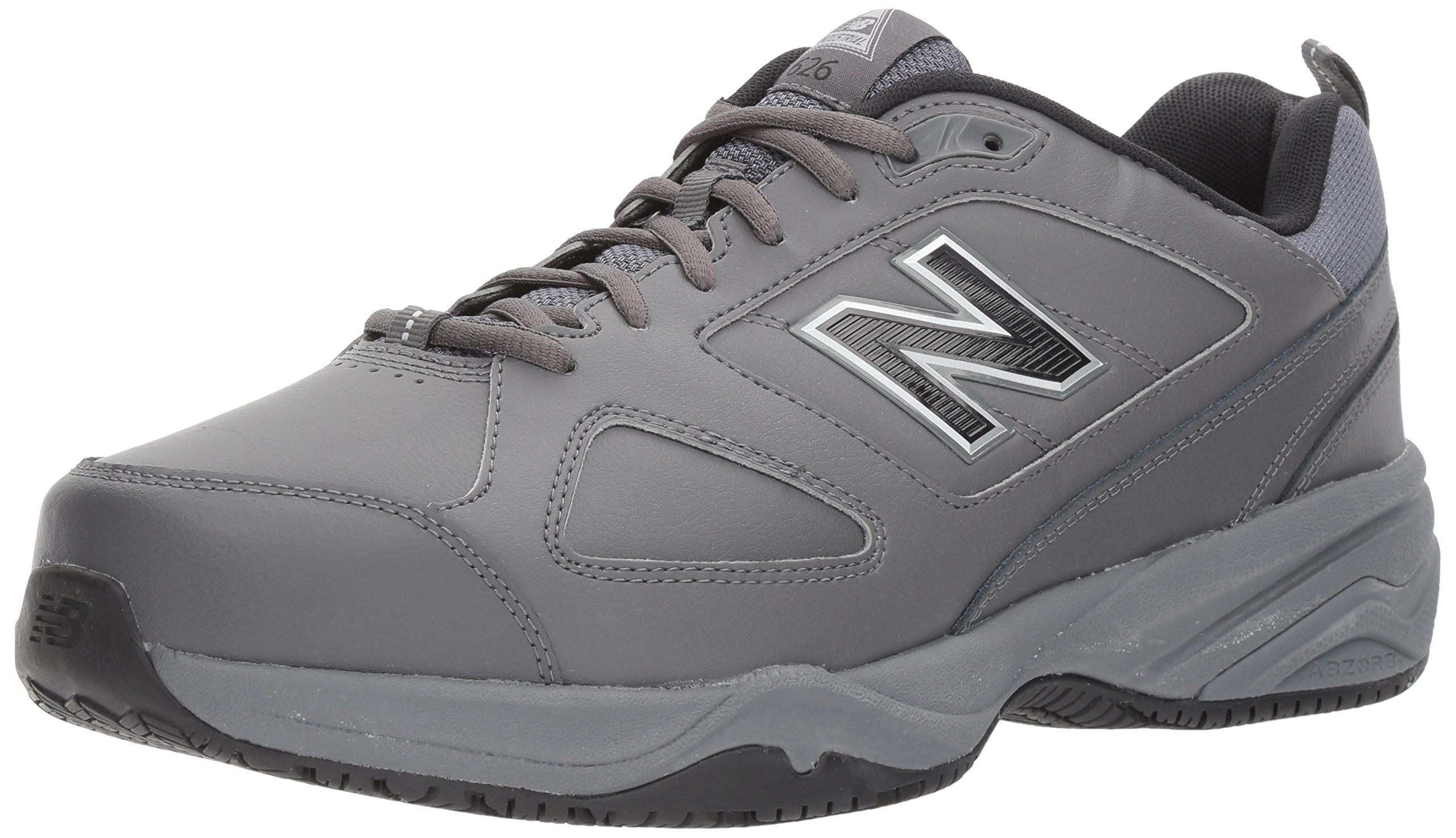 New Balance Men's MID626v2 Work Training Shoe, Grey/Black, 14 4E US