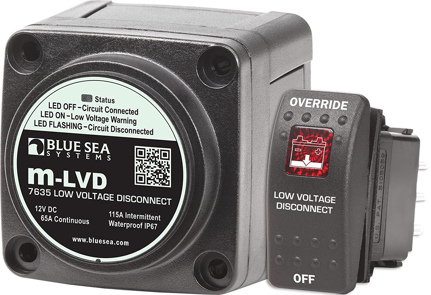 Amazoncom  Blue Sea Systems MLVD Low Voltage Disconnect - 12v low voltage protection relay