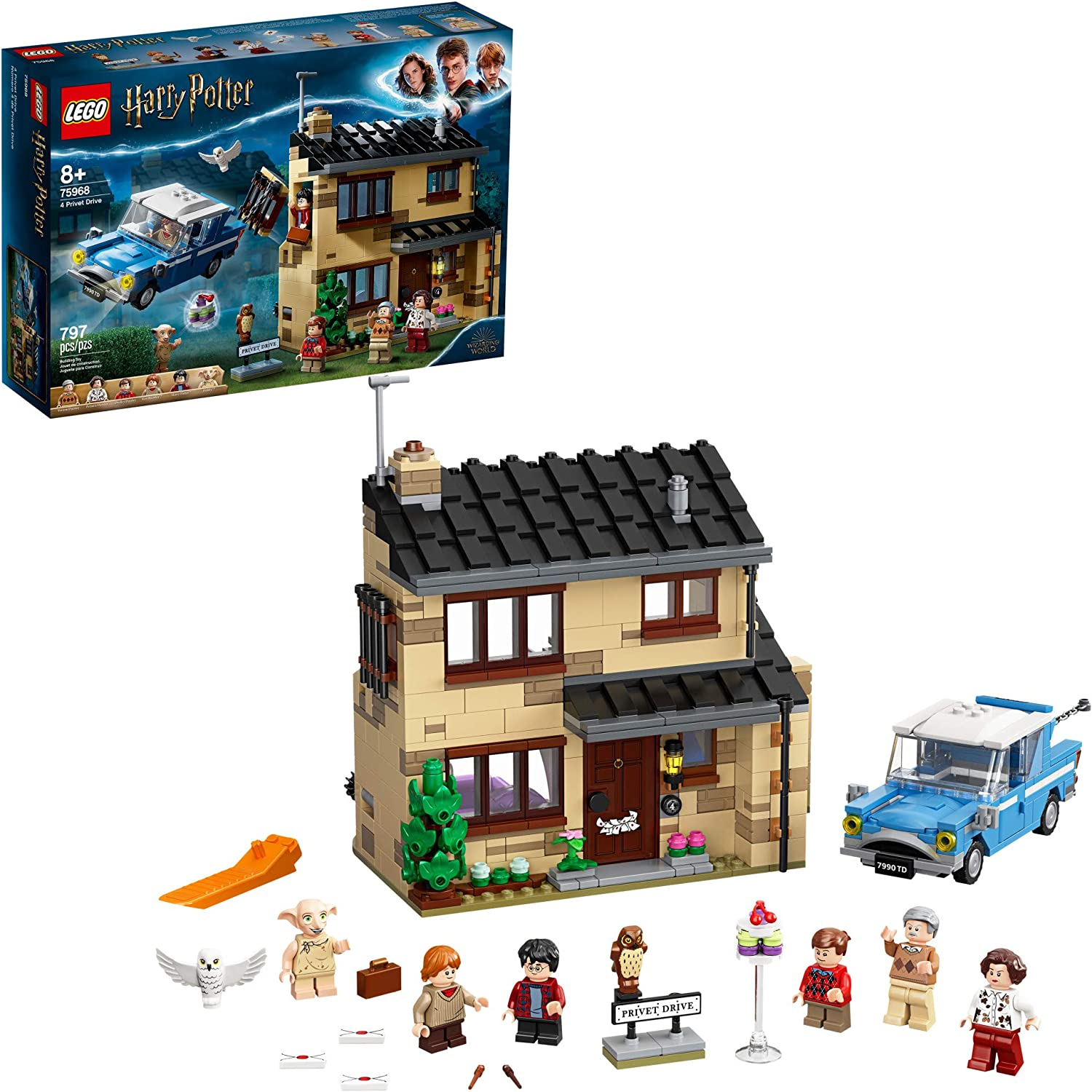 Lego Harry Potter 4 Privet Drive 75968 Fun Children S Building Toy For Kids Who Love Harry Potter Movies Collectible Playsets Role Playing Games And Dollhouse Sets New 2020 797 Pieces Toys Games