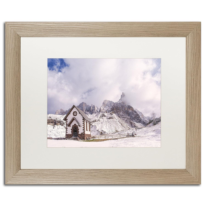 Amazon.com: Trademark Fine Art Alpine Chapel by Michael Blanchette ...