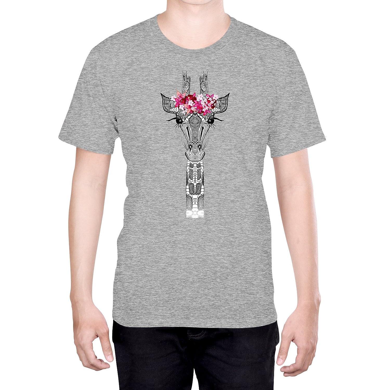Official Monika Strigel Flower Girl Giraffe Art S - Small Black T-Shirt for Men