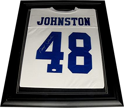 c50b89e1c Image Unavailable. Image not available for. Color  Daryl Johnston Hand  Signed Autographed Dallas Cowboys Jersey Custom Framed JSA
