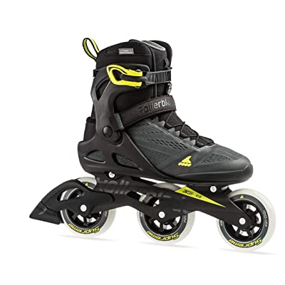 Rollerblade Macroblade 100 3WD Men's Adult Fitness Inline Skate, Anthracite and Neon Yellow, Performance Inline Skates : Sports & Outdoors