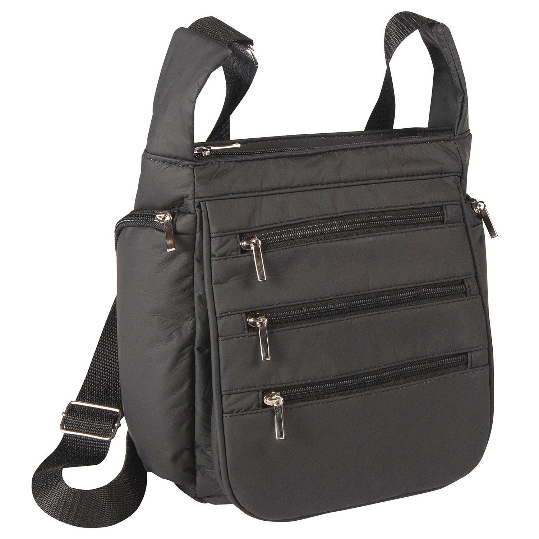 RFID Security Organizing Handbag, Black