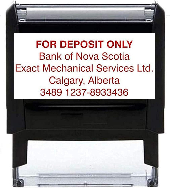 1 2 3 4 5 6 7 8 Line Self-Inking Stamp. Bank Deposit - Address Stamp - Name Stamp - Check Endorsement