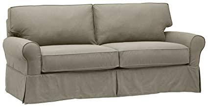 Stone & Beam Carrigan Modern Sofa Couch with Slipcover, 88.5\