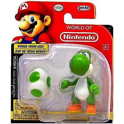 World of Nintendo Yoshi and Bonus Yoshi Egg Action Figure 2.5 Inch: Toys & Games