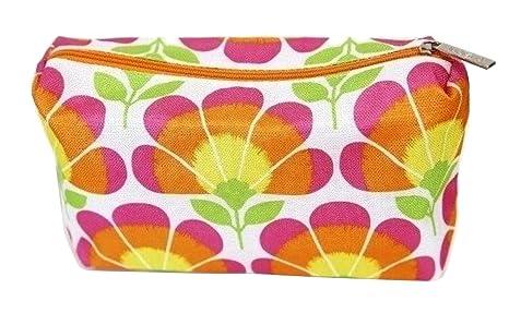 Clinique brillante naranja rosa y verde estampado Floral ...