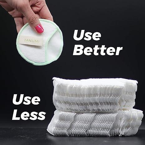 Amazon.com: TANUMI - Almohadillas de algodón reutilizables ...
