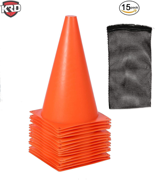 【★安心の定価販売★】 Krd オレンジ 15パックスポーツトレーニングコーン9インチTall機敏性のトレーニング、サッカー、フットボール、子供 Krd、フィールドマーカー オレンジ B075FTN1JY, ランコシチョウ:54f11349 --- senas.4x4.lt