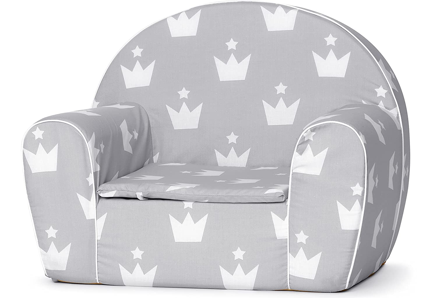 Ladeheid Children's armchair Couch With Bed Funktion LATE1001 (Ecru/Owls, 37 x 43 x 53 cm)