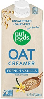 product image for nutpods Oat French Vanilla, (12-Pack), Unsweetened Dairy-Free Creamer, Nut-Free Creamer, Made from Oats, Gluten Free, Non-GMO, Vegan, Kosher