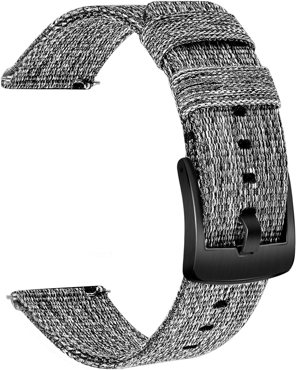 TRUMiRR Compatible avec Garmin Vivomove HR Sport Bande de Montre Bracelet de Montre en Nylon Sangle Bracelet /à Boucle en Acier Inoxydable pour Garmin Vivomove HR Sport Pas pour Vivomove HR Premium