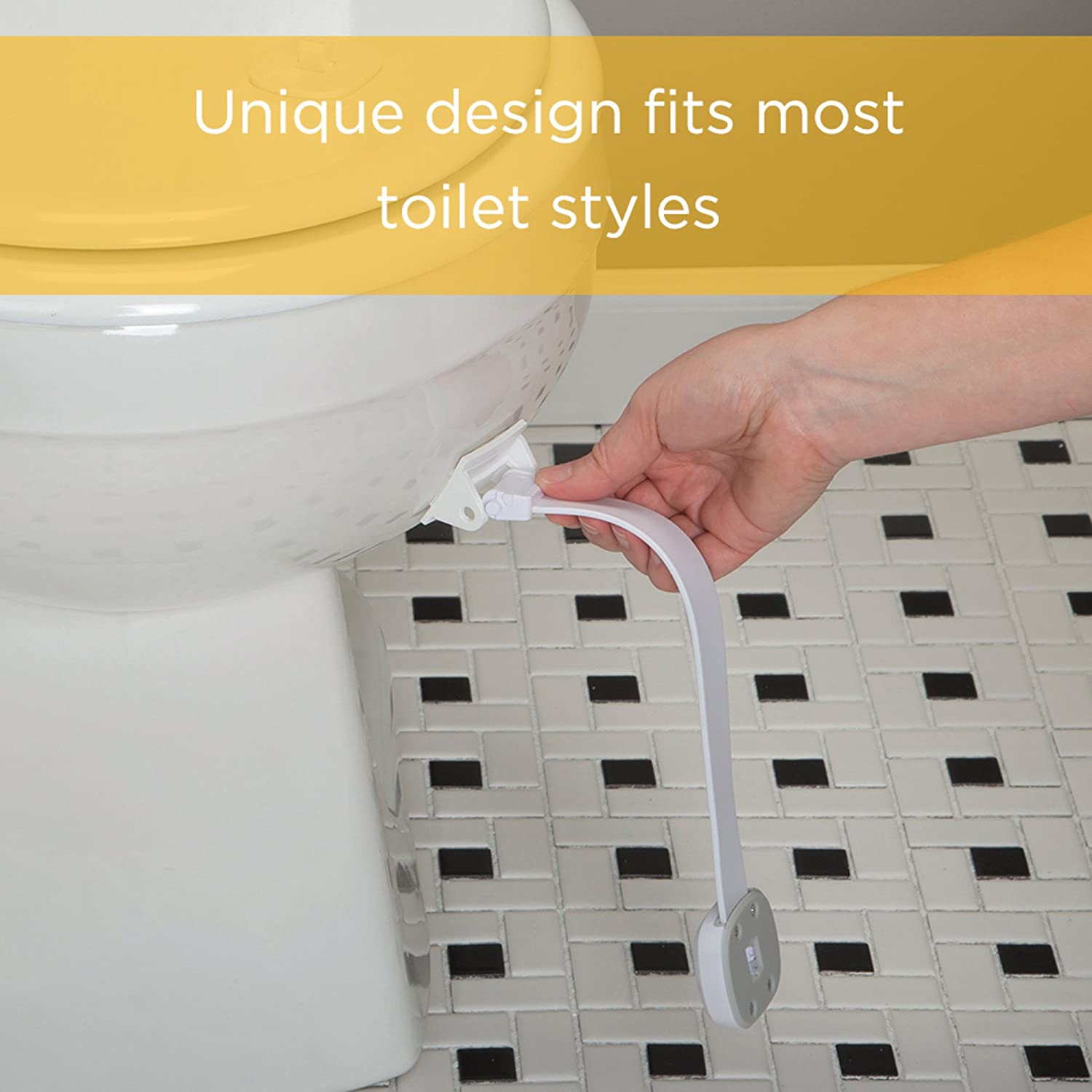 White Safety 1st OutSmart Toilet Lock