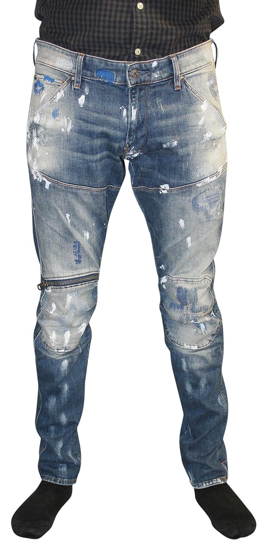G-Star Raw Mens 5620 3D Zip Knee Super Slim Jeans