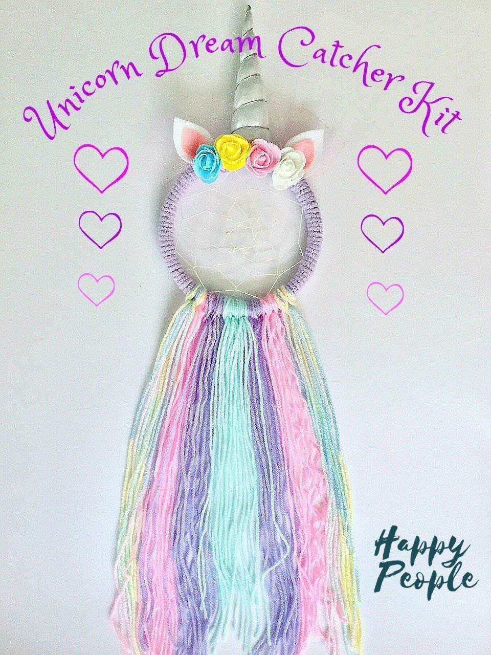 Full Size Make Your Own Unicorn Dream Catcher Kit Kids Craft Gifts for girls 3