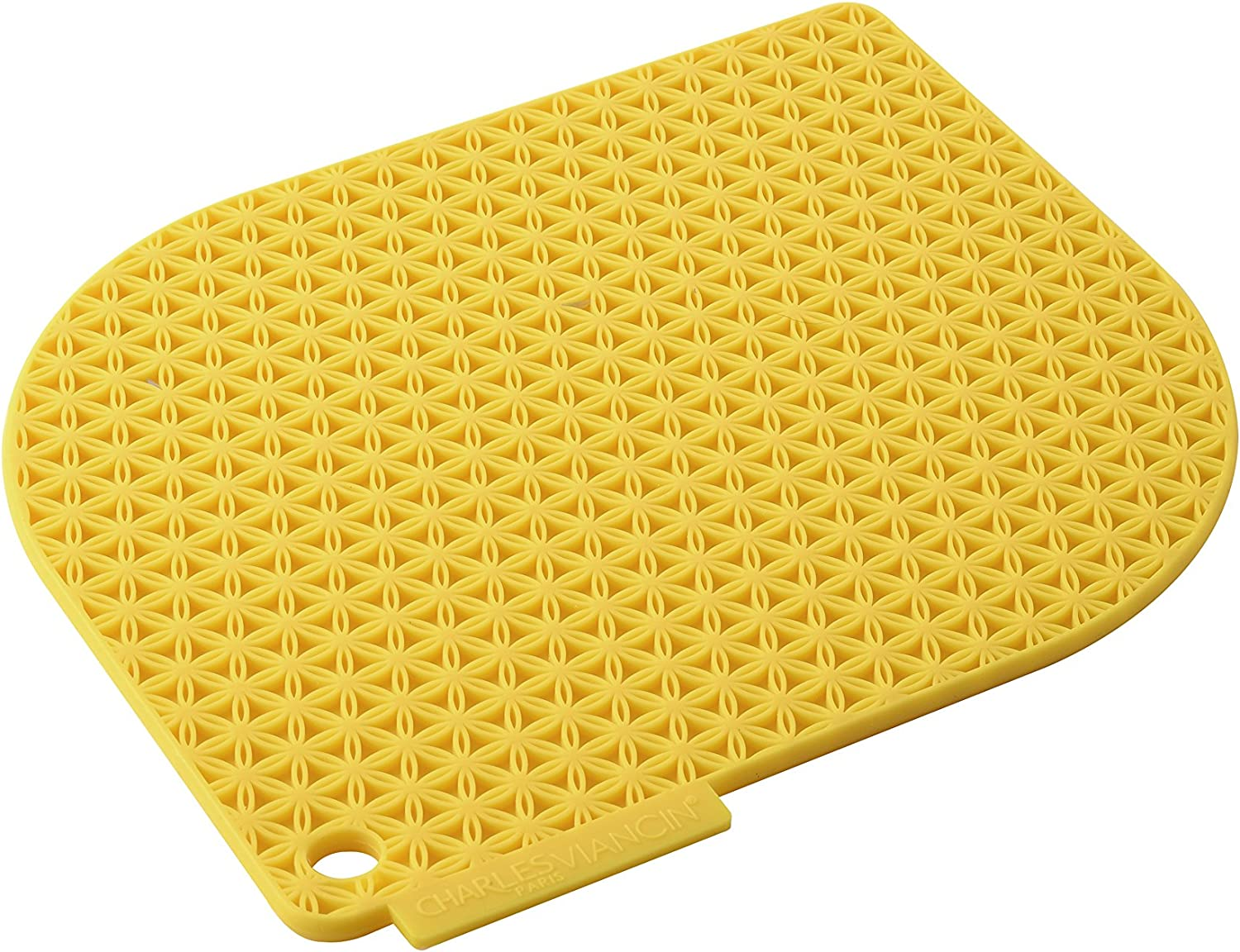 Charles Viancin - Honeycomb Silicone Pot Holder - Withstands Temperatures up to 220°C / 428°F - BPA-Free, Plastic Free, Food-Grade Silicone - Dishwasher Safe - Yellow Macaron