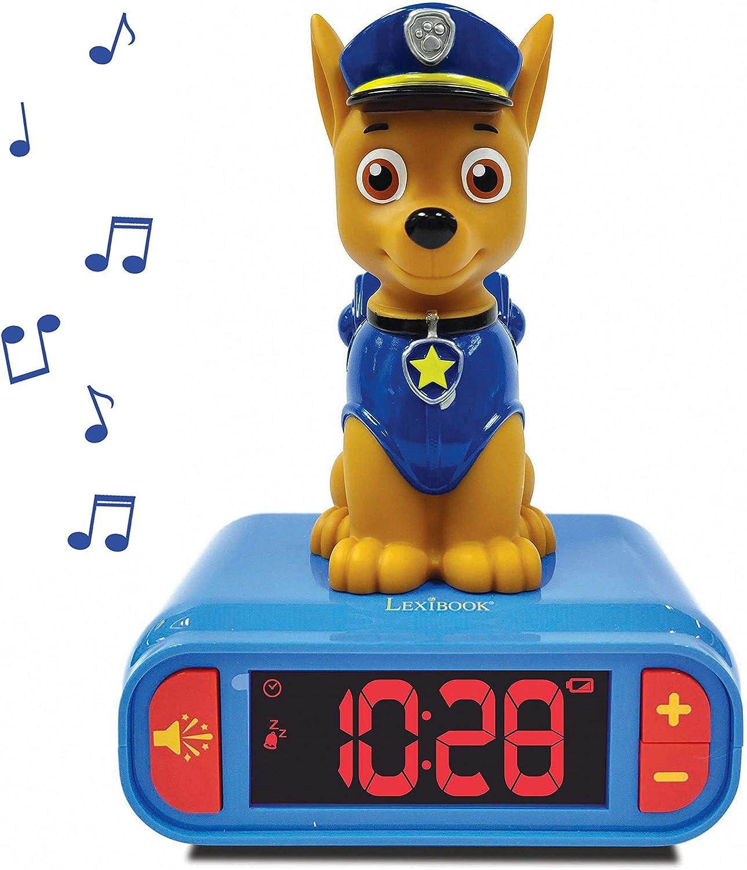 NLJ001PA1 changement de couleurs Lexibook Paw Patrol La PatPatrouille Chase Veilleuse de Poche LED pour chambre denfants lumi/ère douce Bleu//Beige A piles