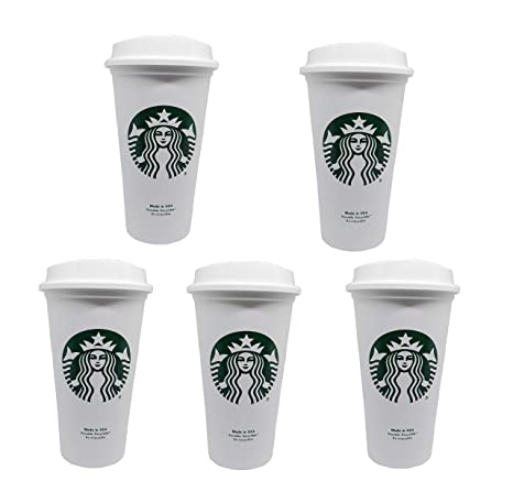 Starbucks Reusable Travel Cup To Go Coffee Cup Grande 16 Oz 5 Pack