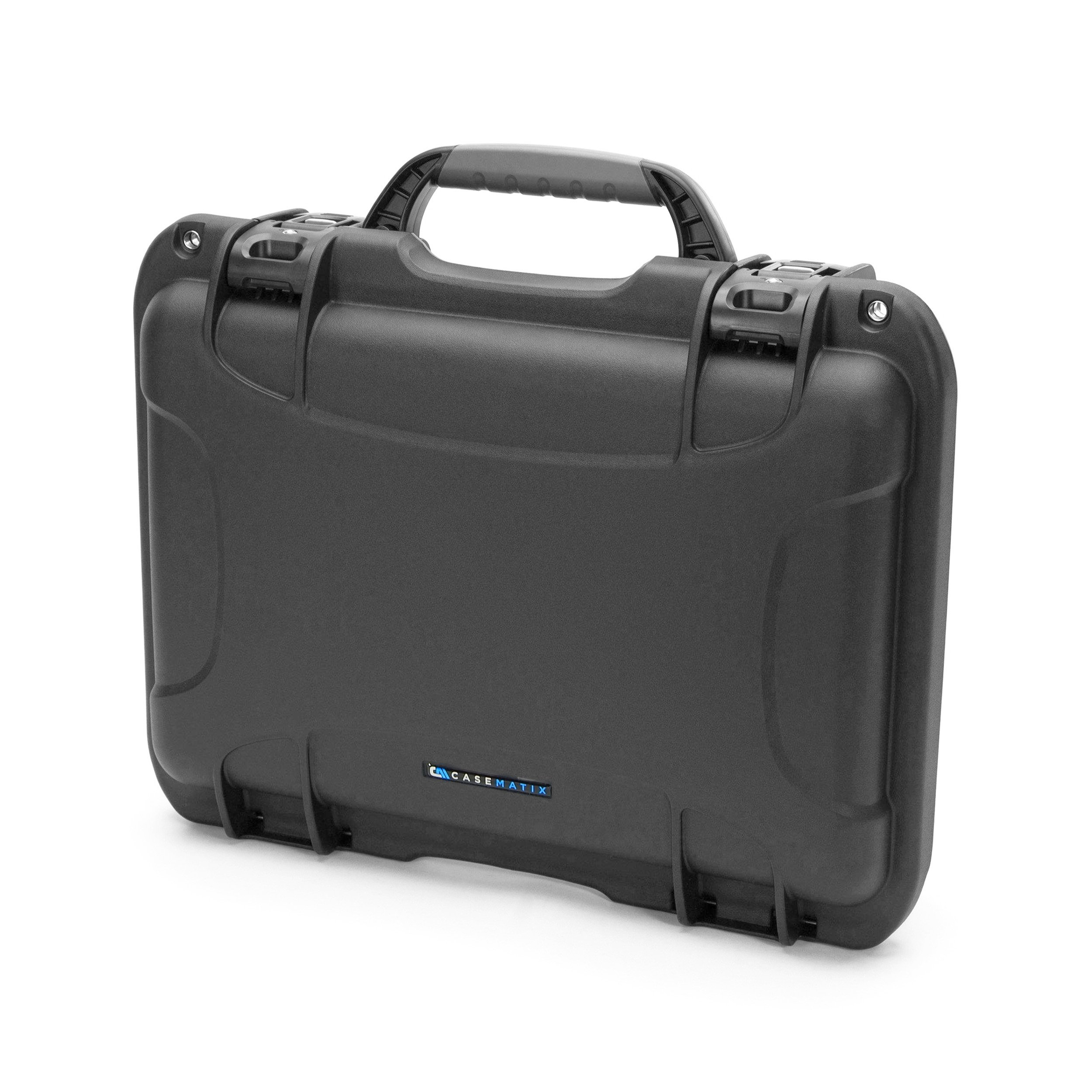 CASEMATIX ELITE Customizable Portable Printer Carry Case Fits Pixma iP110 and Workforce WF-100 – IP6x Waterproof Crushproof Travel Case for Wireless Mobile Printer , Ink Cartridges , Power Cables