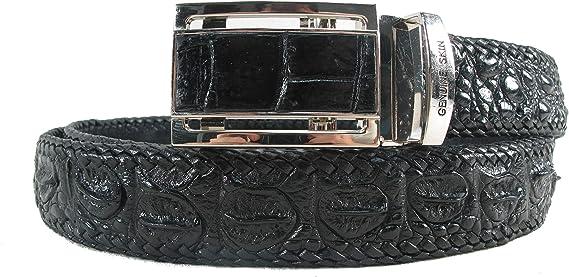 Black Crocodile Alligator Leather Belt for Men Mens handmade leather belt,hand stitched made to fit your waist size