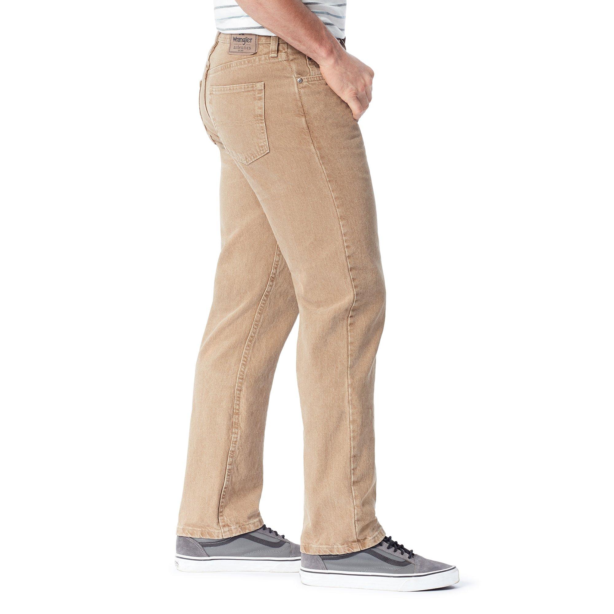 ba8b4e97 Wrangler Authentics Men's Classic 5-Pocket Regular Fit Jean,Khaki,42x28 -  ZM100KH-289-42x28 < Jeans < Clothing, Shoes & Jewelry - tibs