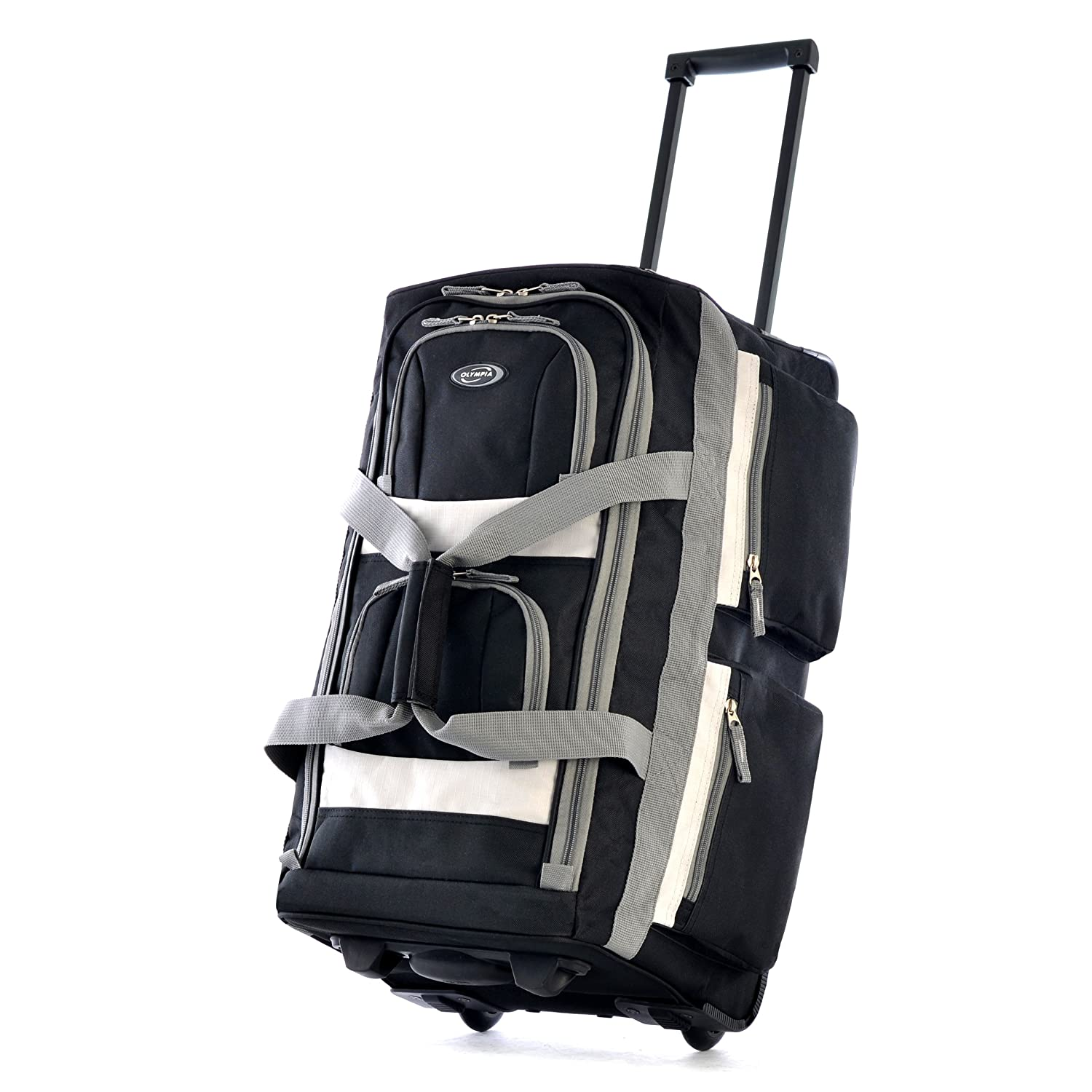 The Olympia Luggage Pocket Rolling Duffel Bag travel product recommended by adil sadout on Lifney.