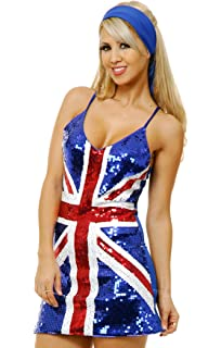 Amazon.com : Ladies Union Jack Fitted Dress : Toys & Games