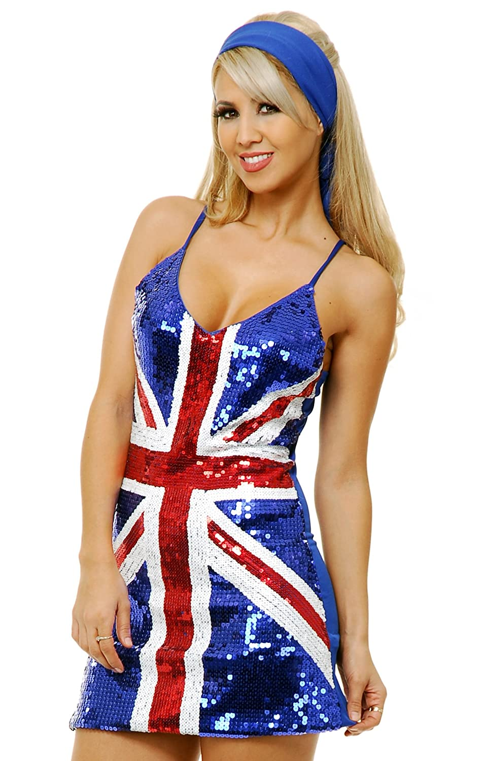 Amazon.com : Ladies Union Jack Fitted Dress : Toys &amp- Games