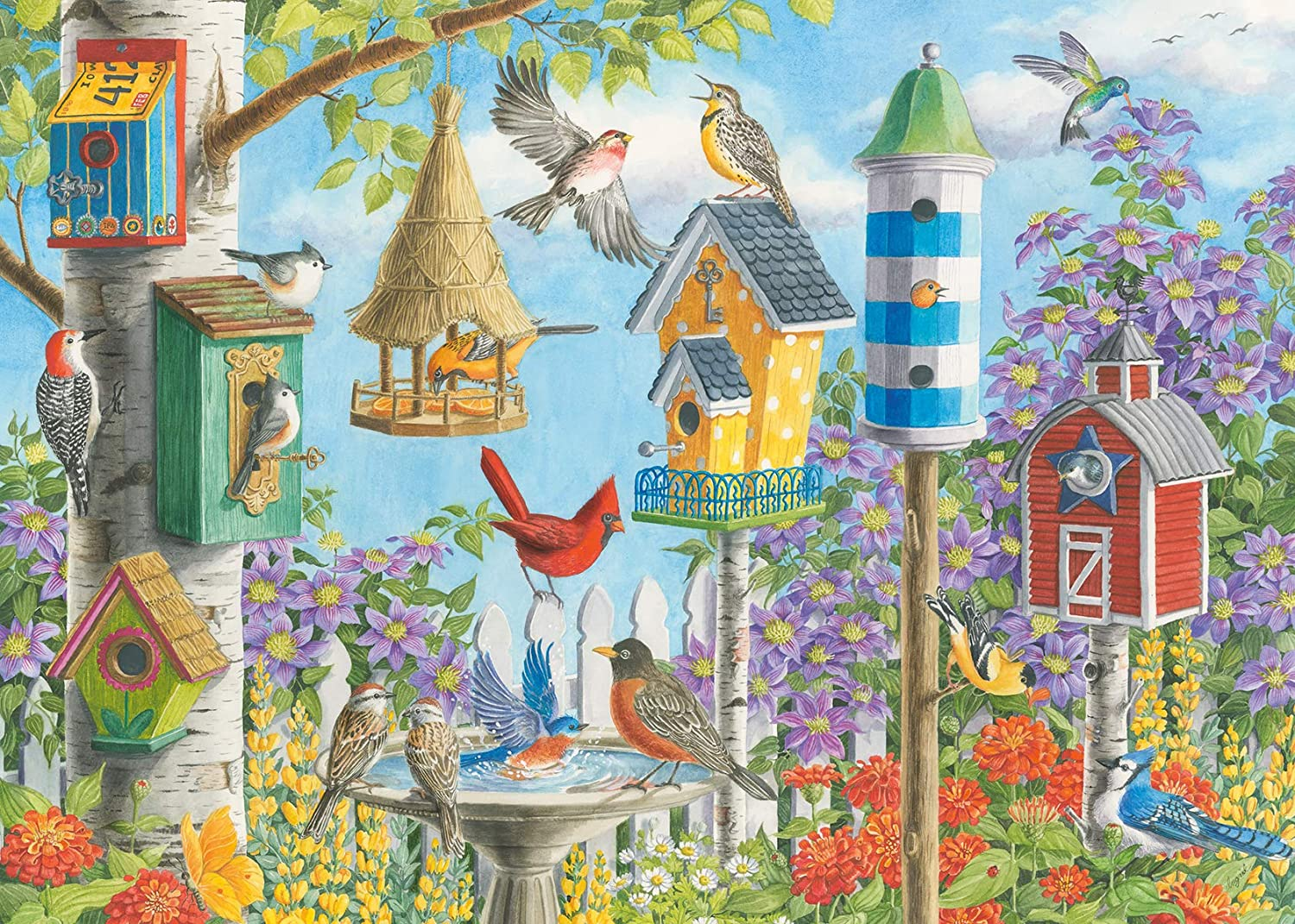 Ravensburger 16436 Home Tweet Home 300 Piece Large Pieces Jigsaw Puzzle for Adults - Every Piece is Unique, Softclick Technology Means Pieces Fit Together Perfectly
