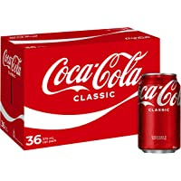 Coca-Cola Classic Soft Drink Multipack Cans 36 x 375mL (Packaging may vary)