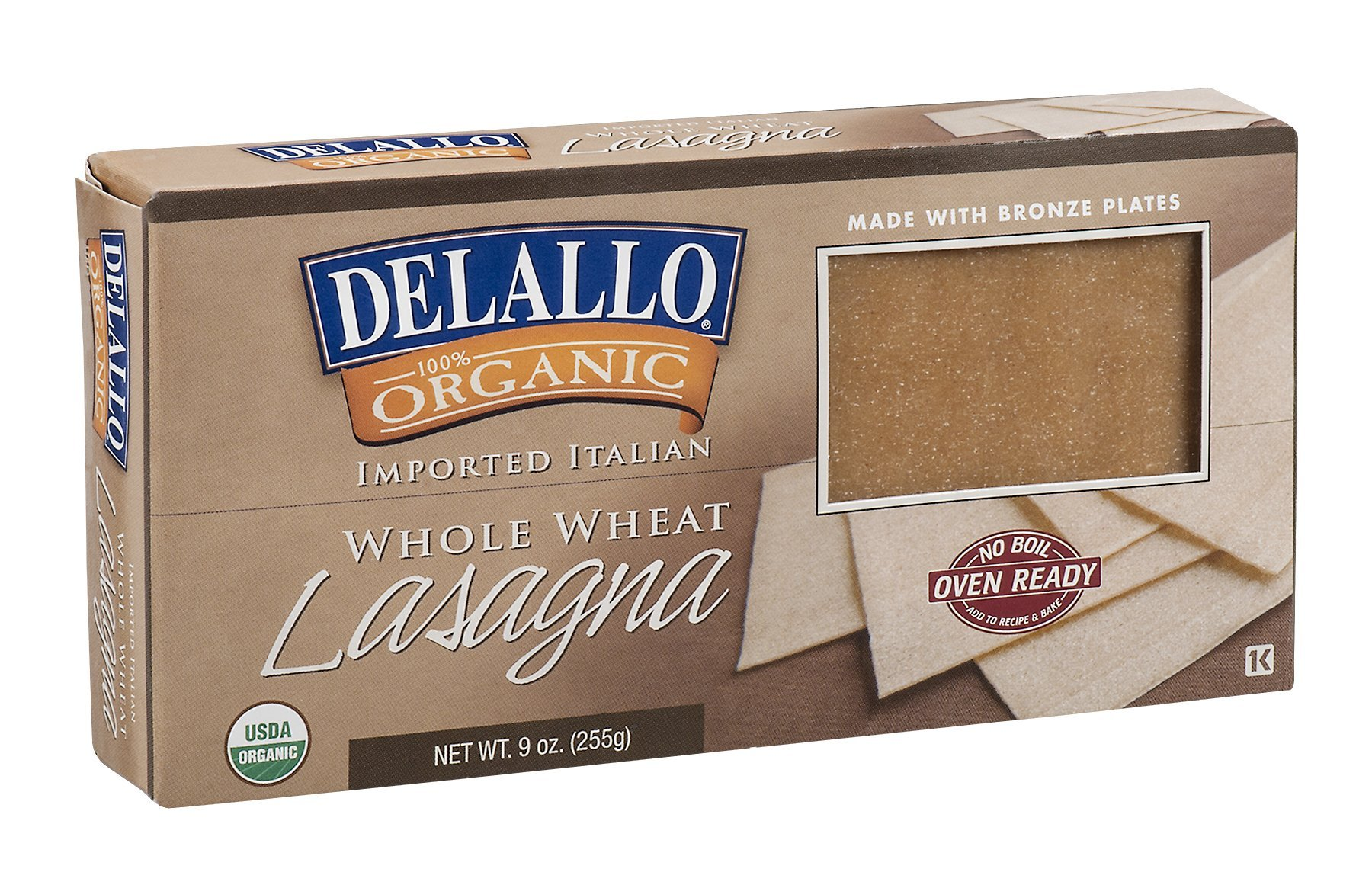 DELALLO LASAGNA WHLWHT, 9 OZ by DeLallo