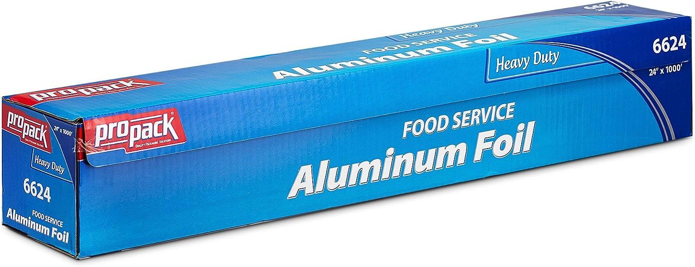 Propack Heavy Duty Food Service Aluminim Foil Roll 24'' Width x 1000' Length