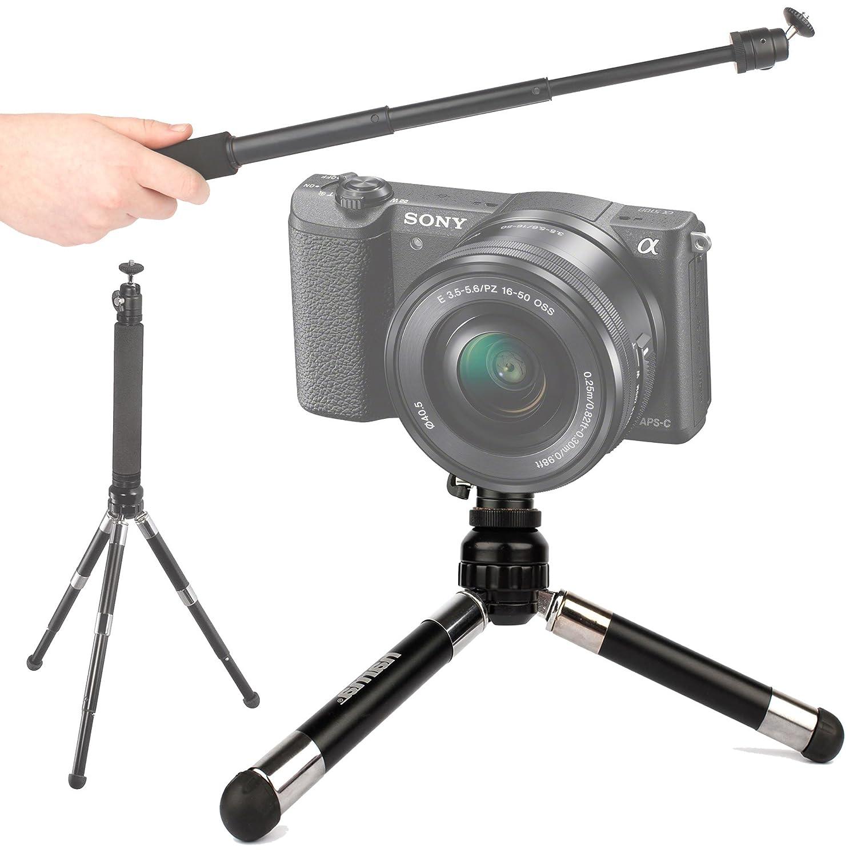DURAGADGET Telescopic 2-in-1 Tripod / Monopod ('Selfie'-Pod) for the Nikon 1 V3, Nikon Coolpix AW120, Coolpix S810C & Sony A5100 Compact Cameras