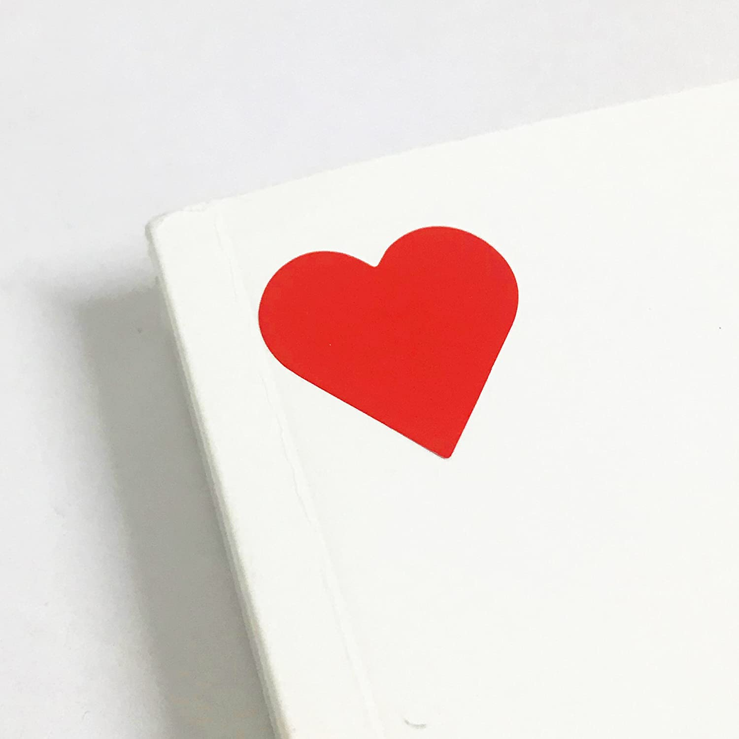 50 Sheets Pack of 1200 1 Red Heart Sticker Labels
