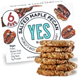 Yes bar – Salted Maple Pecan – (6Count) Plant Based Protein, Decadent Snack bar – Vegan, Paleo, Gluten Free, Low Sugar…