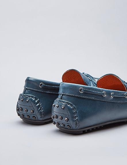 Mocasines de Piel Estilo Driver Hombre: Amazon.es: Zapatos y complementos