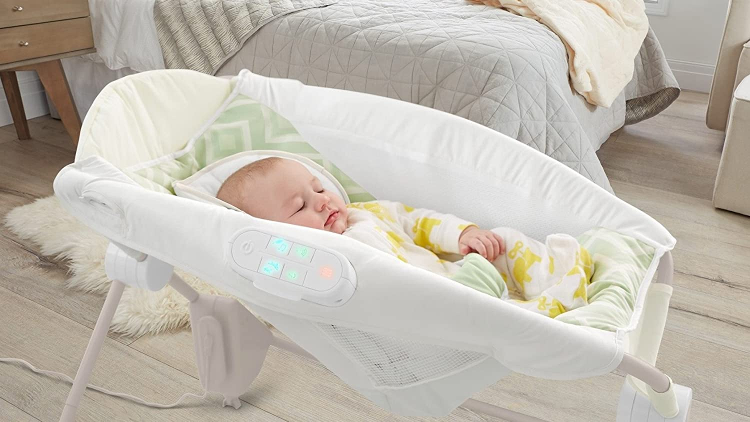 Baby bed that connects to parents bed - Amazon Com Fisher Price Deluxe Auto Rock N Play Sleeper With Smart Connect Baby