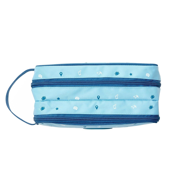 12x25x9 cm Poli/éster Mr Wonderful Neceser para Cables Imprescindibles para Viajar