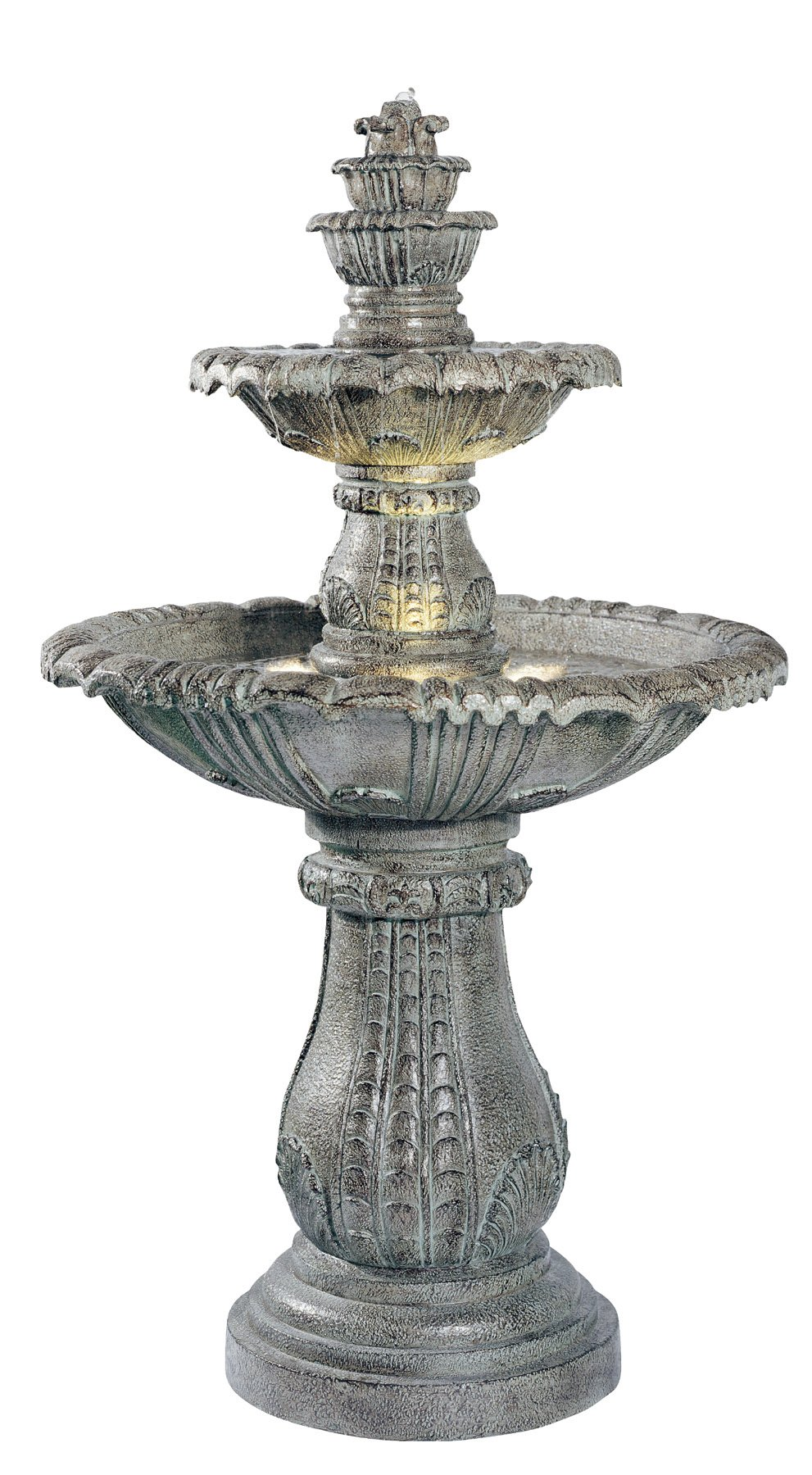 Kenroy Home #02254 Venetian Outdoor Floor Fountain with Moss Finish by Kenroy Home
