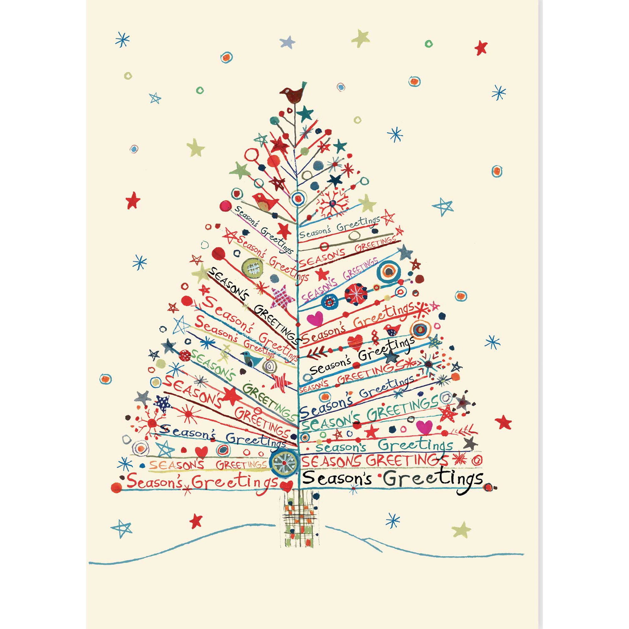 season s greetings tree large boxed holiday cards christmas cards